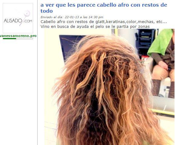 Baño De Color Alisado Japones: un cabello afro con restos de todo – ALISADO JAPONÉS – alisadocom