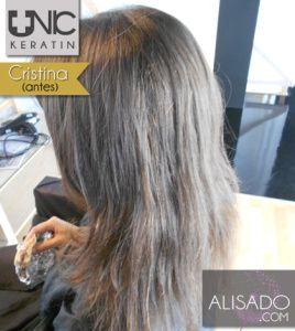 CristinaG Antes 3 Alisado Keratina Unic Sin Formol
